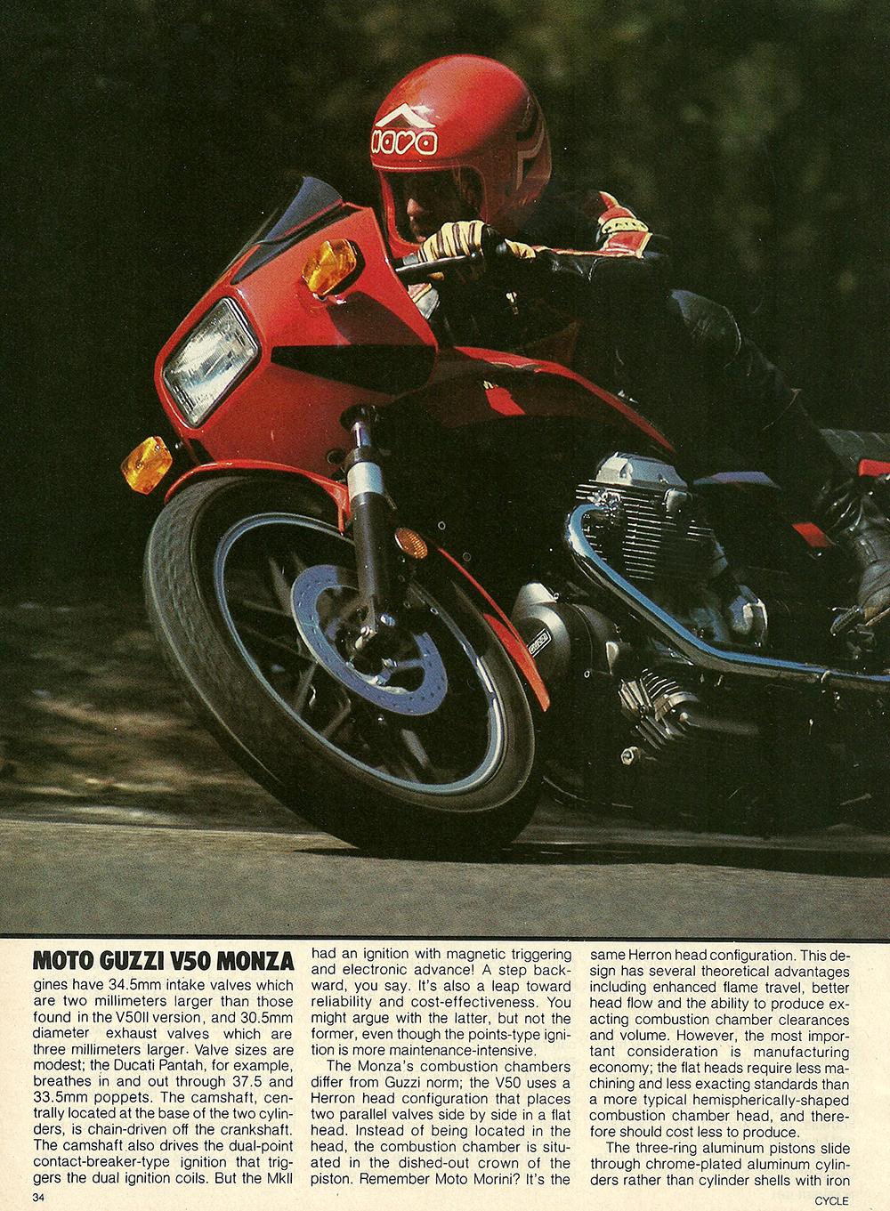 1981 Moto Guzzi V50 Monza road test 03.jpg