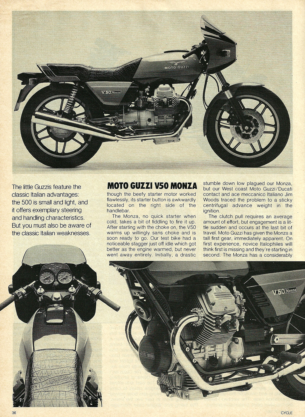 1981 Moto Guzzi V50 Monza road test 05.jpg