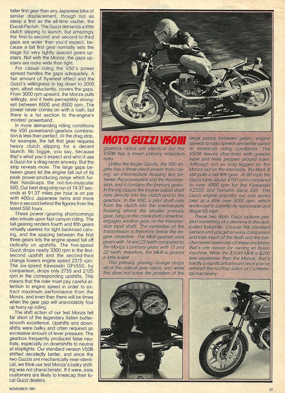 1981 Moto Guzzi V50 Monza road test 07.jpg