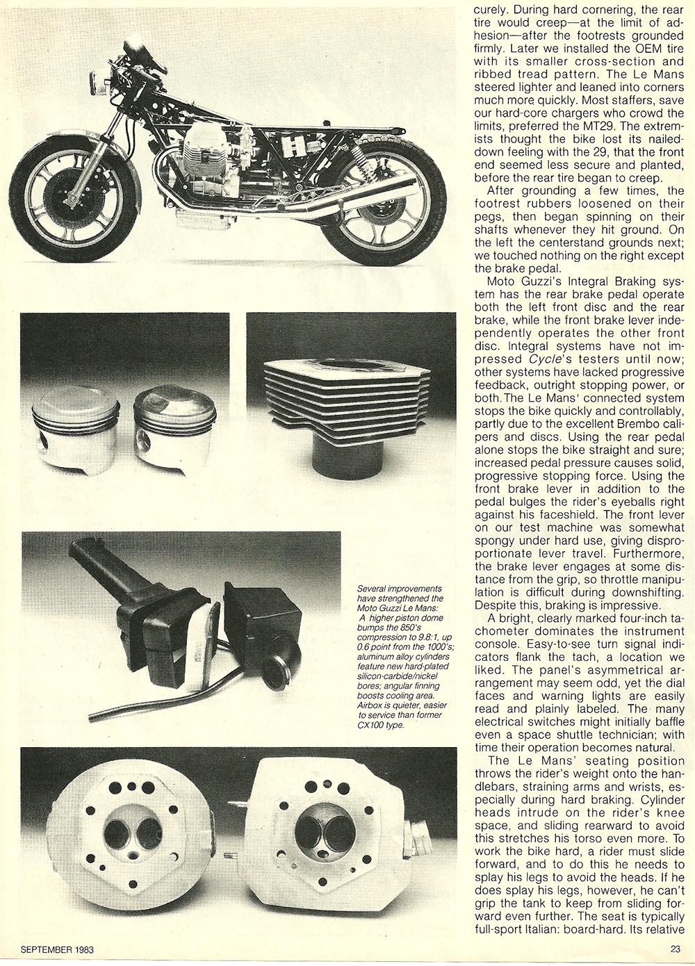 1983 Moto Guzzi 850 Lemans 3 road test 6.jpg