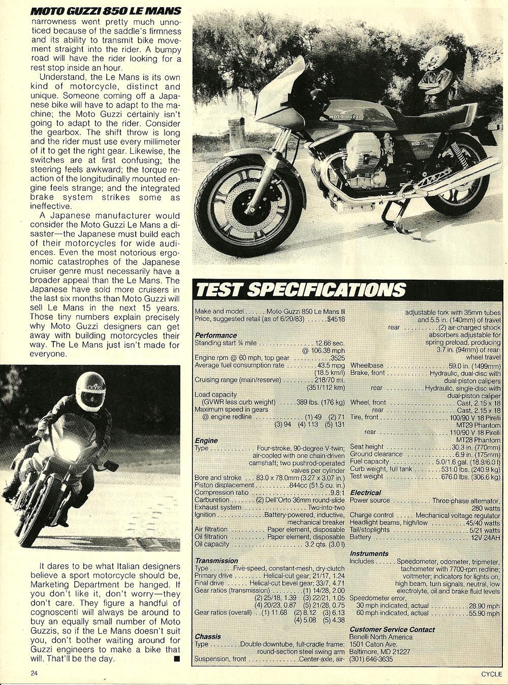 1983 Moto Guzzi 850 Lemans 3 road test 7.jpg