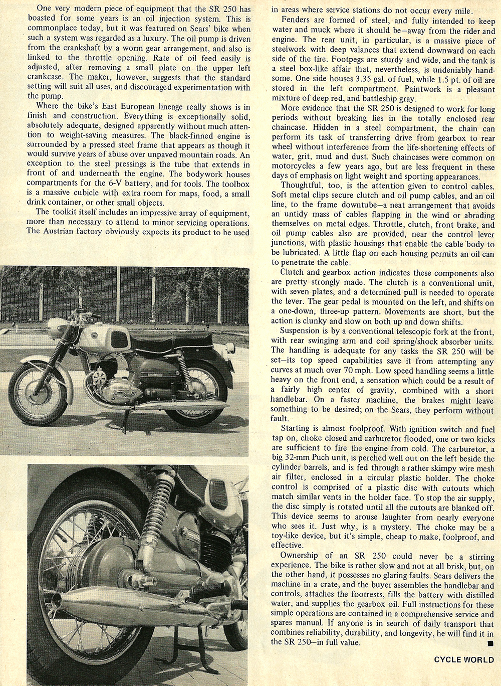 1968 Sears SR 250 road test 03.jpg