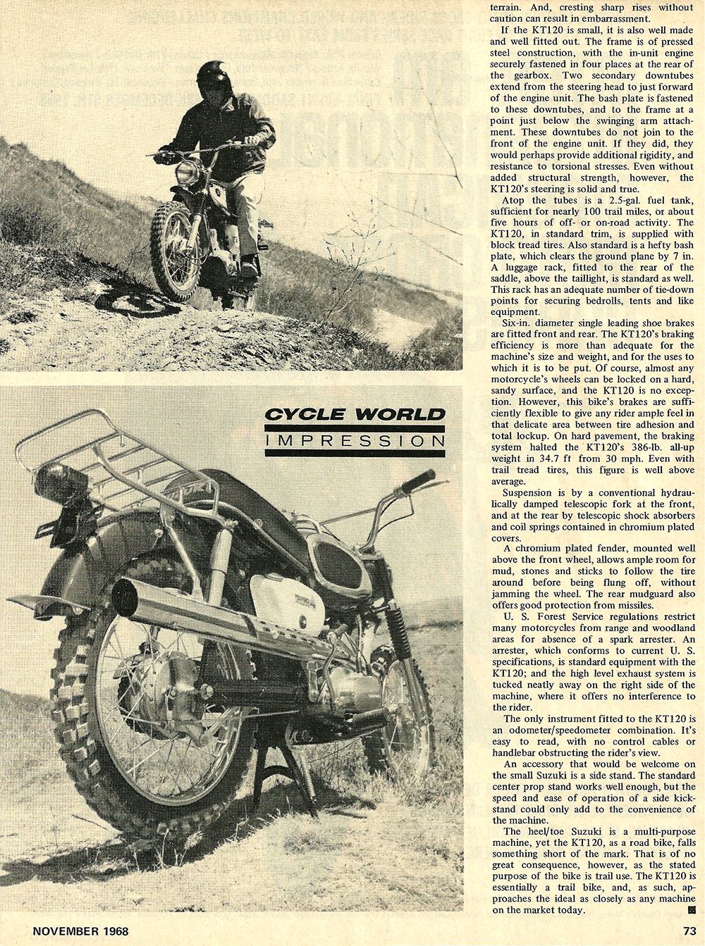 1968 Suzuki KT 120 Trail bike road test 02.jpg