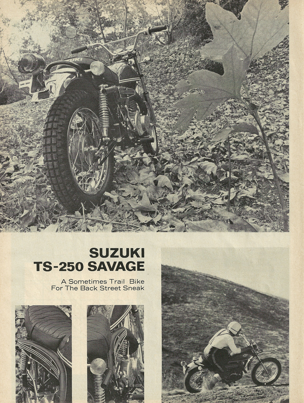 1969 Suzuki TS-250 Savage road test 1.jpg