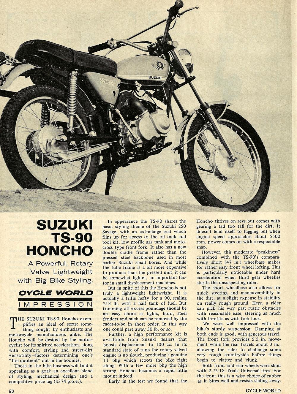 1970 Suzuki TS90 Honcho road test 01.jpg