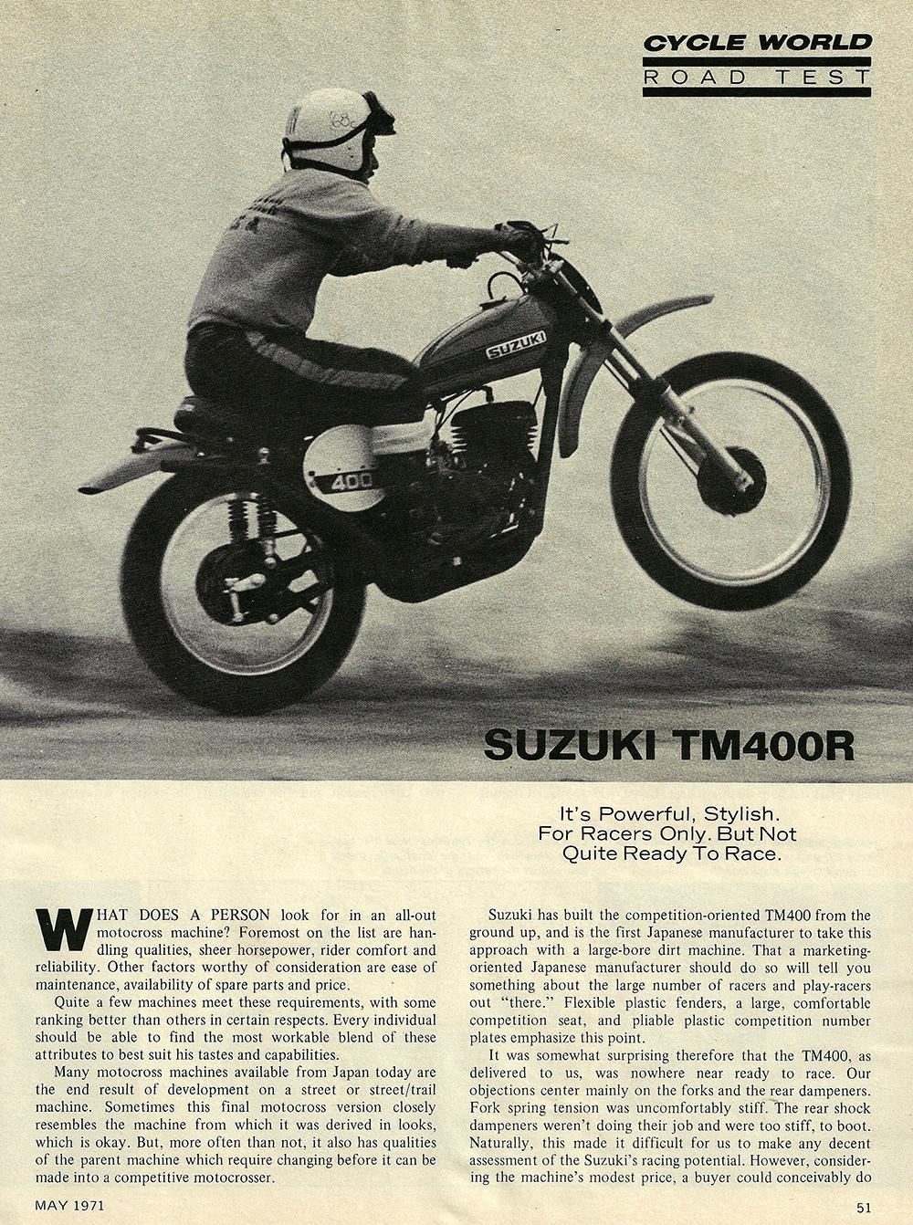 1971 Suzuki TM400R road test 01.jpg