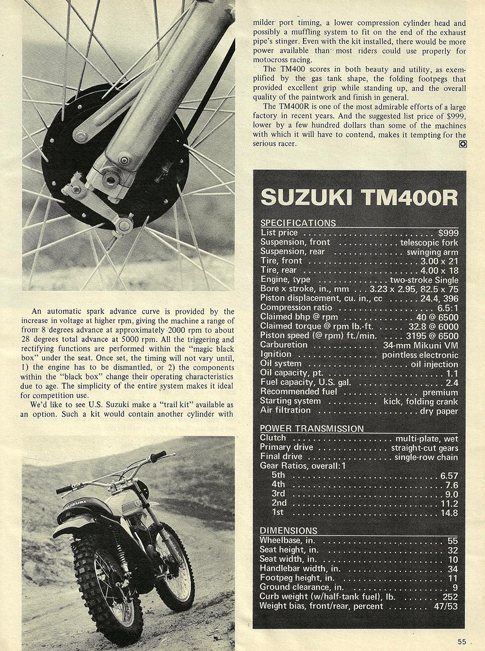 1971 Suzuki TM400R road test 05.jpg