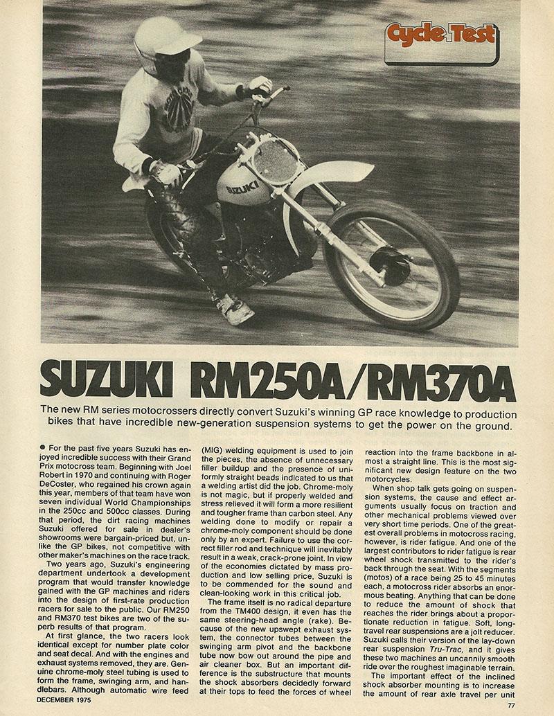 1975 Suzuki RM250 and RM370 off road test 1.JPG
