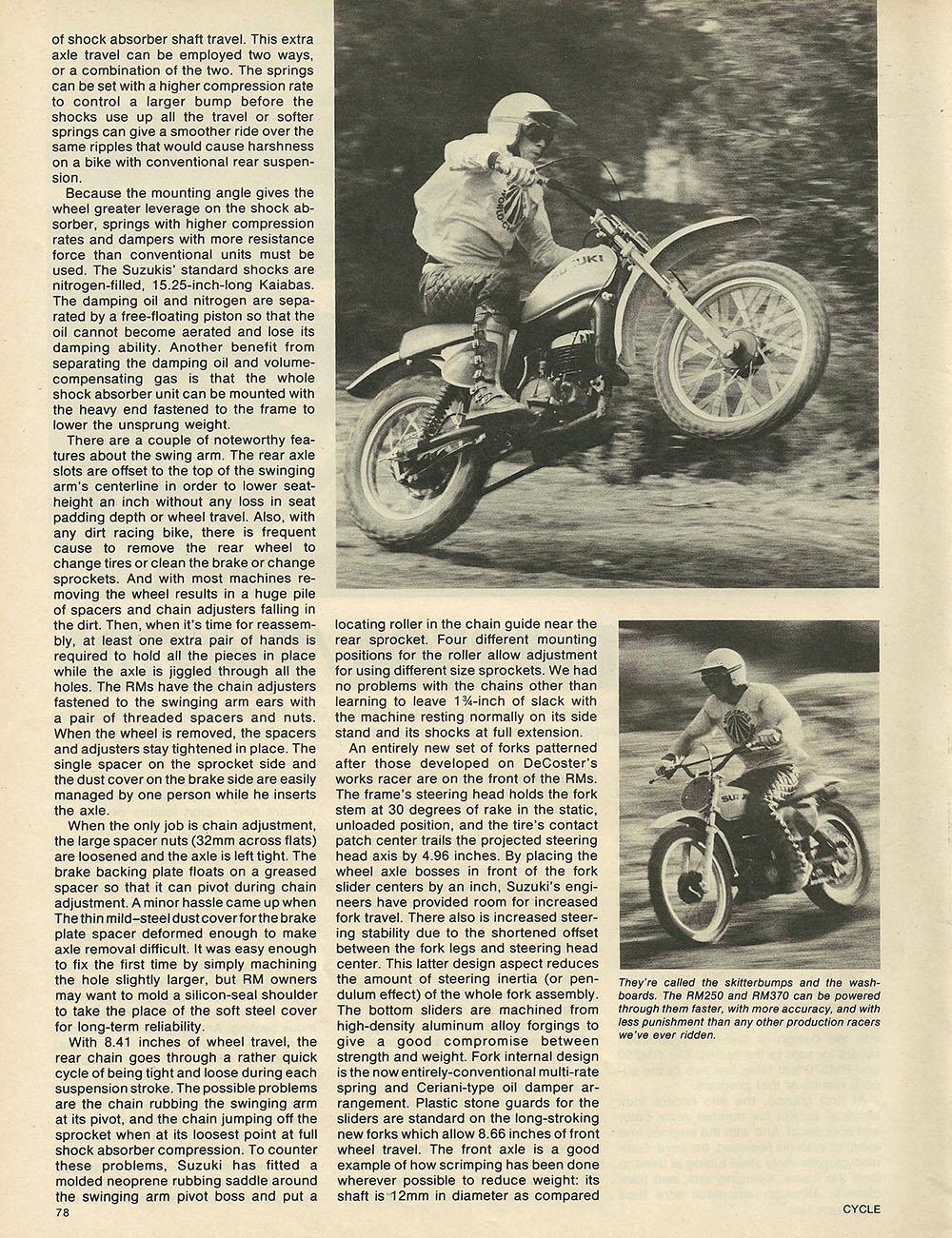 1975 Suzuki RM250 and RM370 off road test 2.JPG