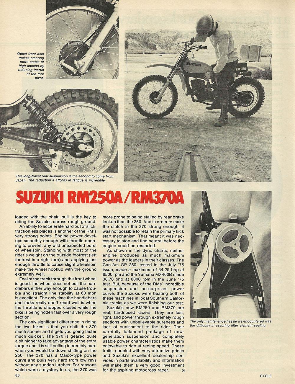 1975 Suzuki RM250 and RM370 off road test 7.JPG