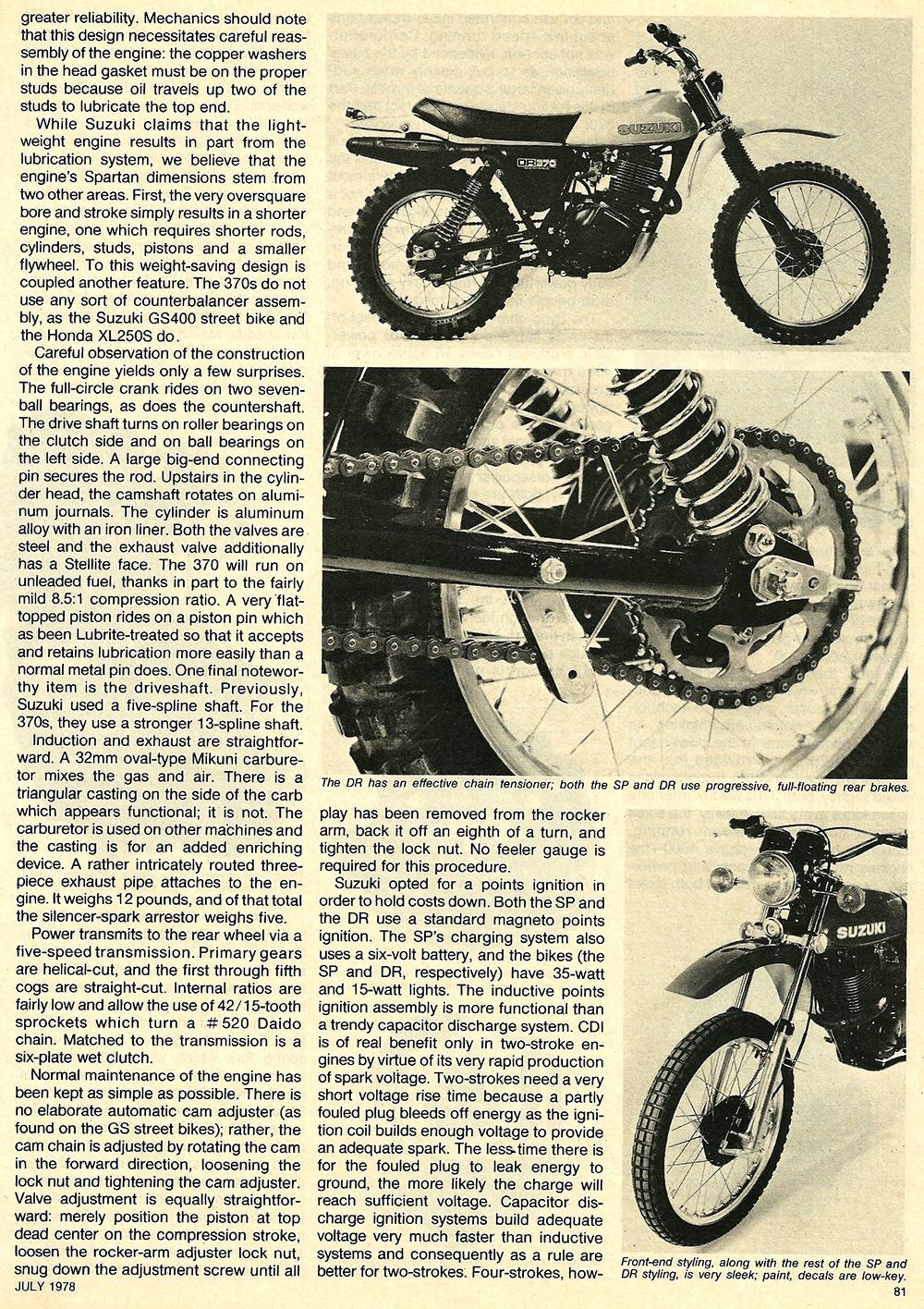1978 Suzuki DR SP 370 road test 04.jpg