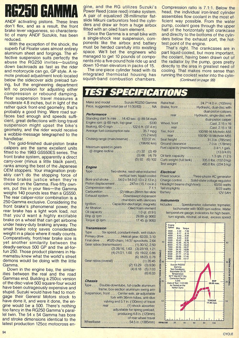1984 Suzuki RG250 Gamma road test 7.jpg