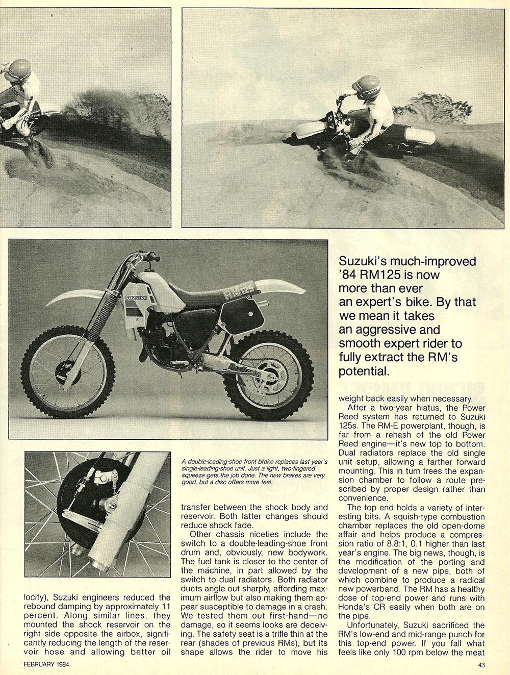 1984 Suzuki RM125E road test 4.jpg