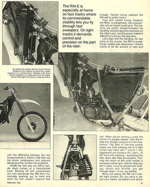 1984 Suzuki RM125 E road test — Ye Olde Cycle Shoppe