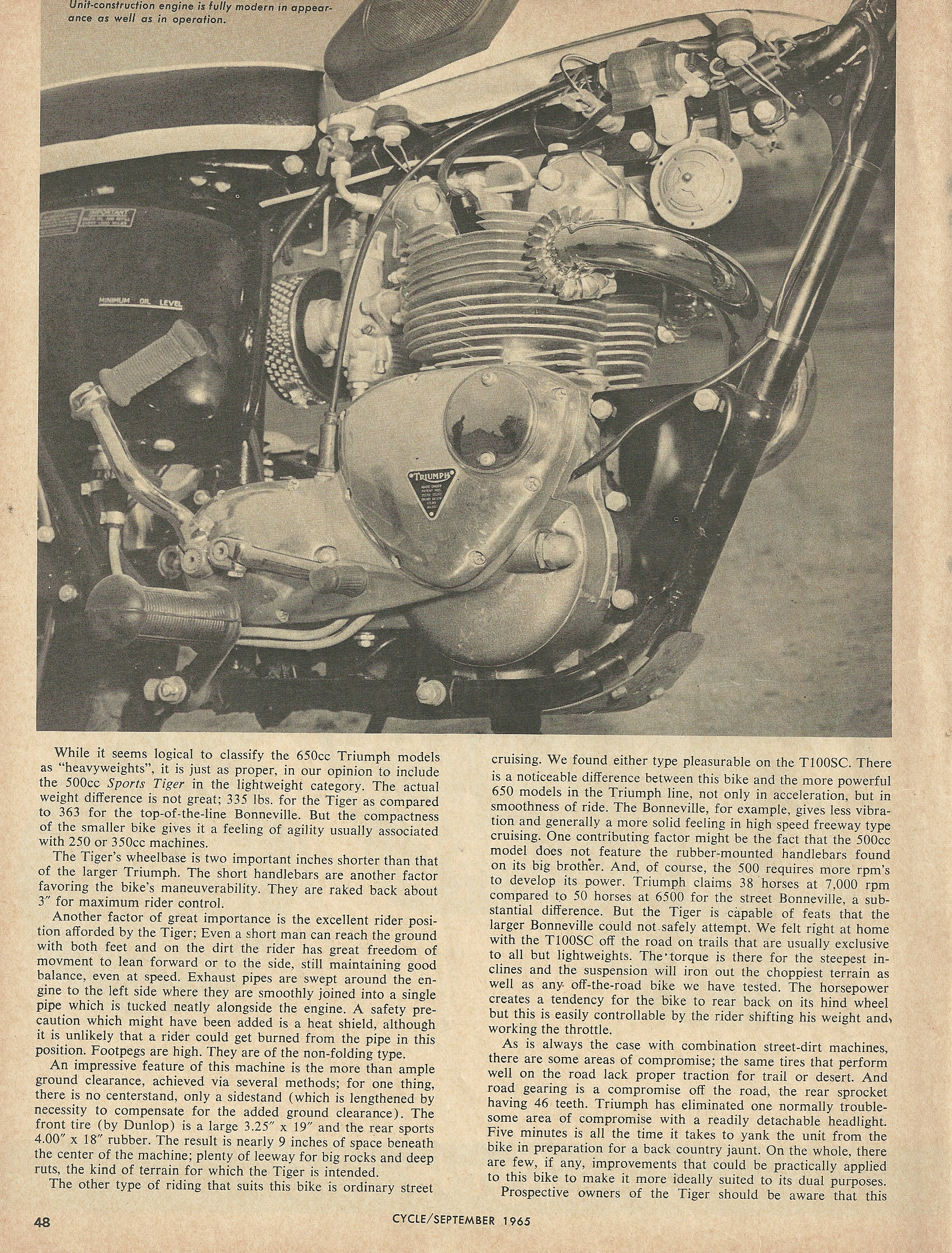 1966 Triumph Sports Tiger T100SC road test 2.JPG
