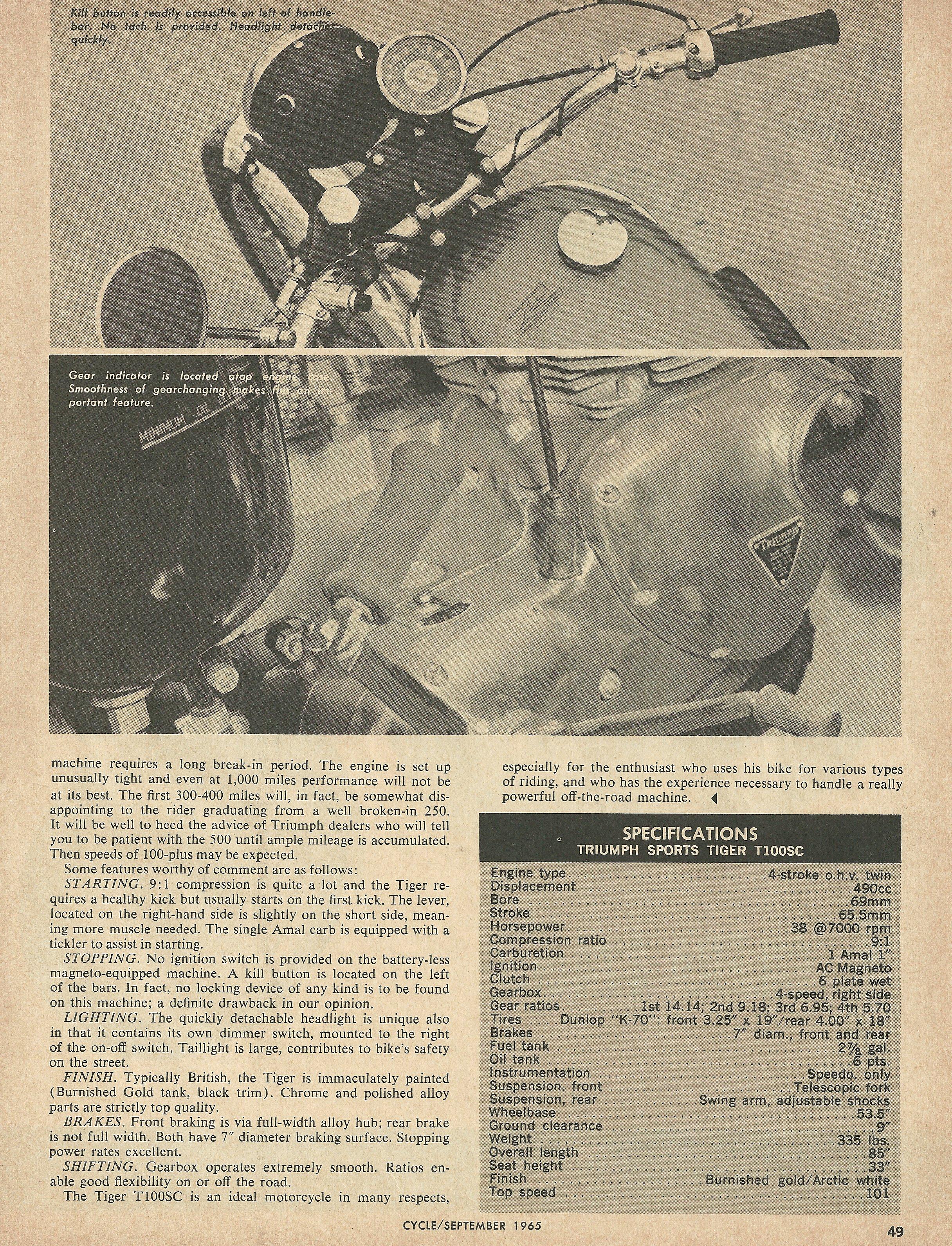 1966 Triumph Sports Tiger T100SC road test 3.JPG
