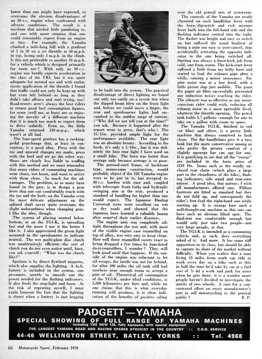 1970 Yamaha YG1-K 80 road test 2.jpg