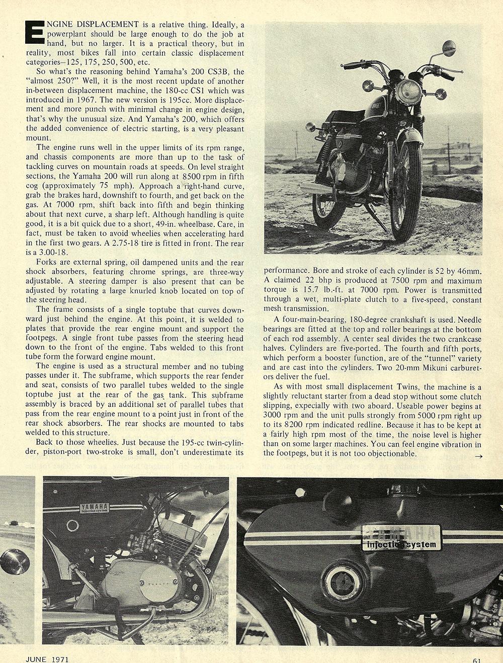 1971 Yamaha 200 CS3B road test 02.jpg