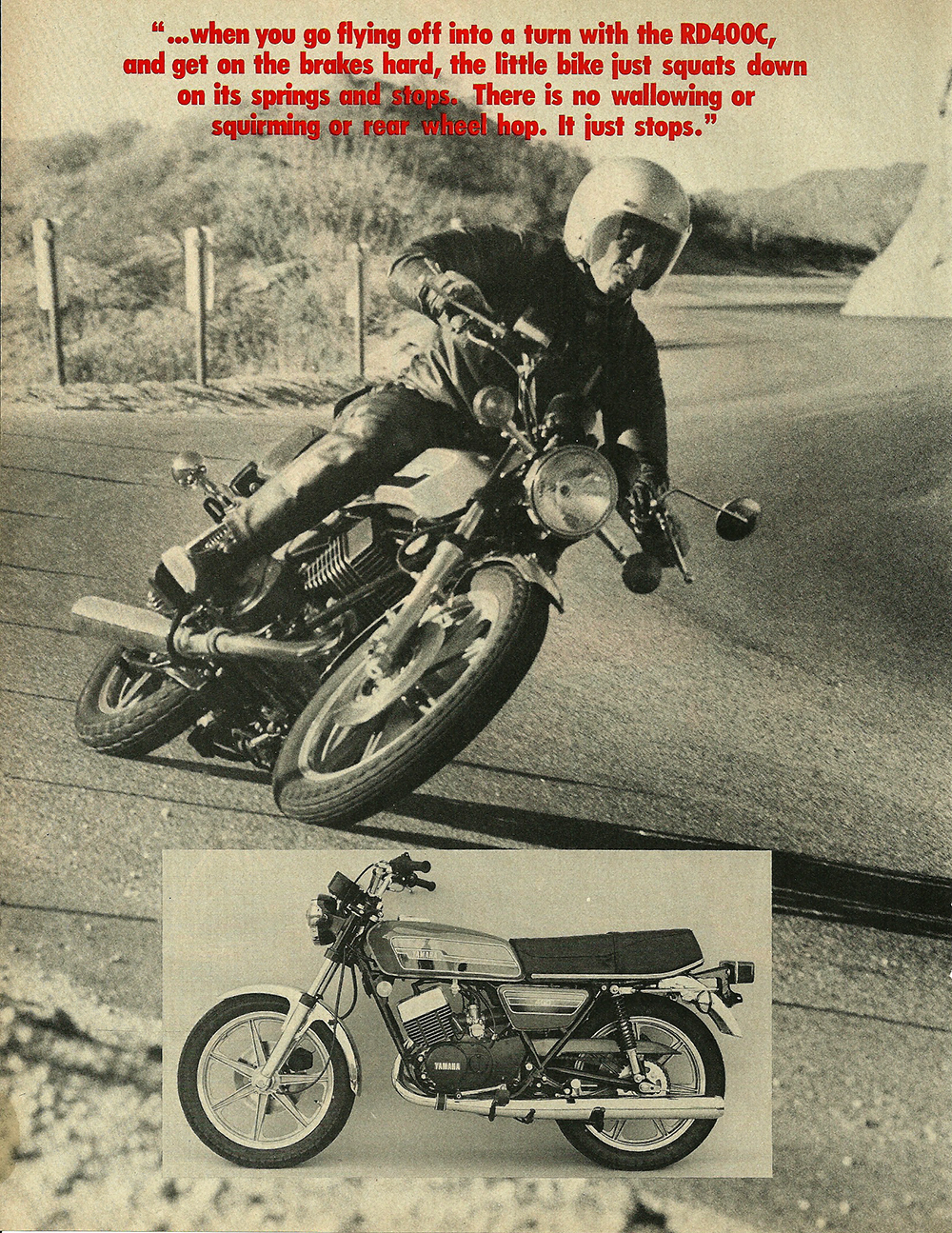 1976 Yamaha RD400C road test 3.jpg