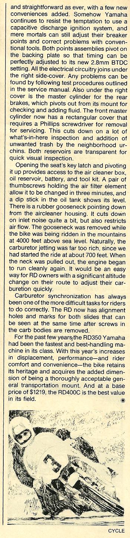 1976 Yamaha RD400C road test 9.jpg