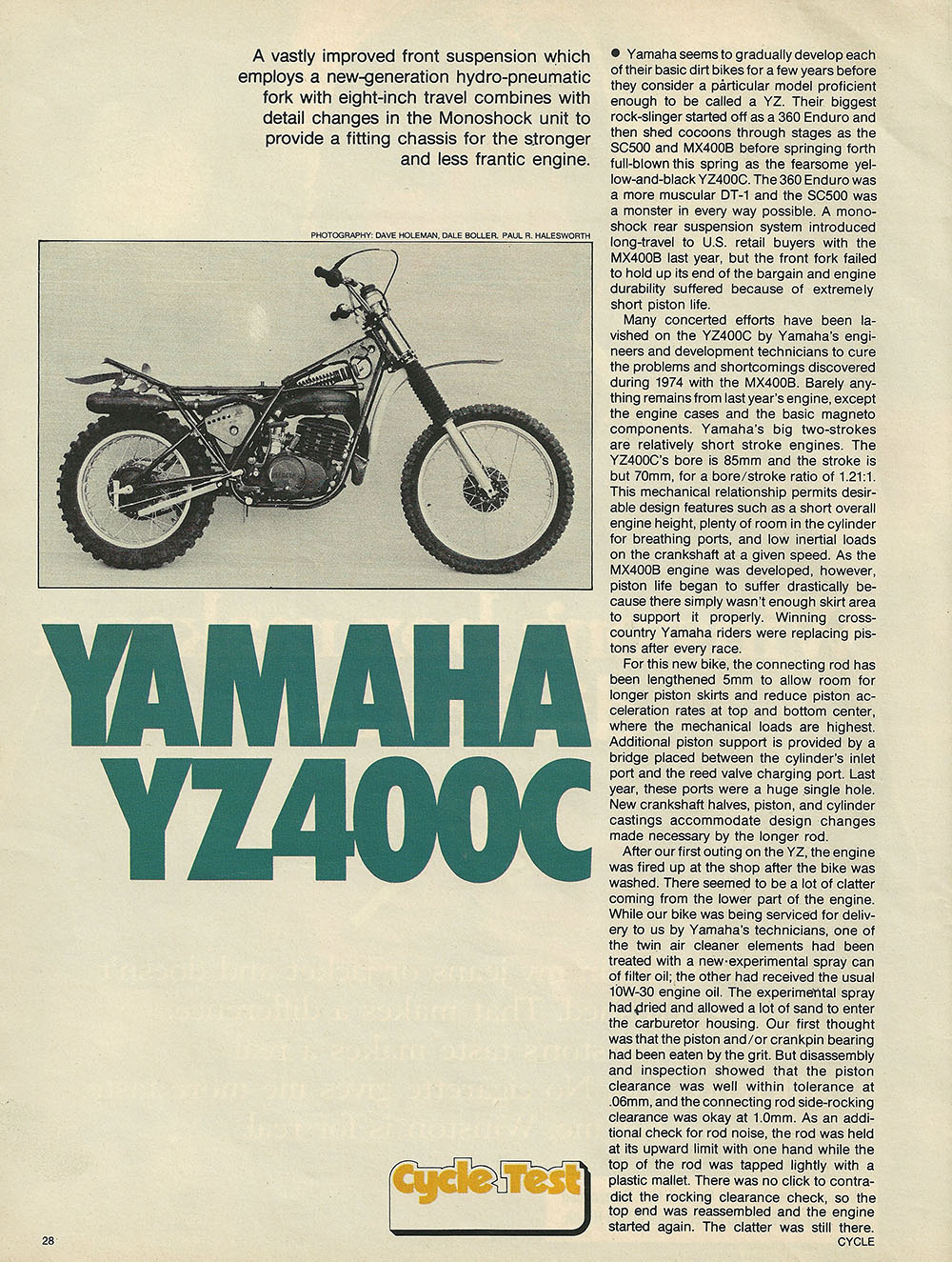 1976 Yamaha YZ400C off road test 1.JPG