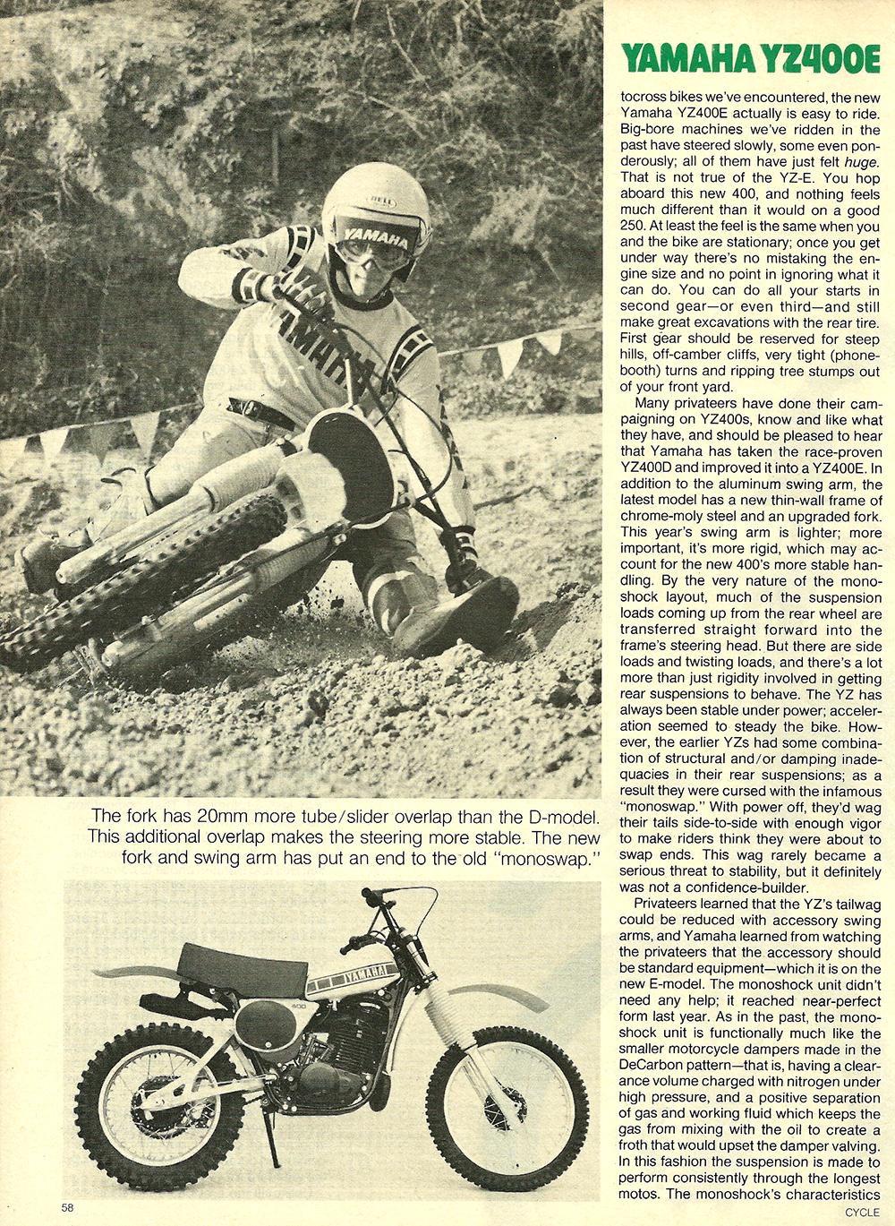1978 Yamaha YZ400E road test 3.jpg