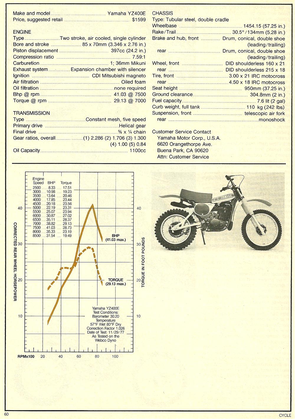 1978 Yamaha YZ400E road test 5.jpg
