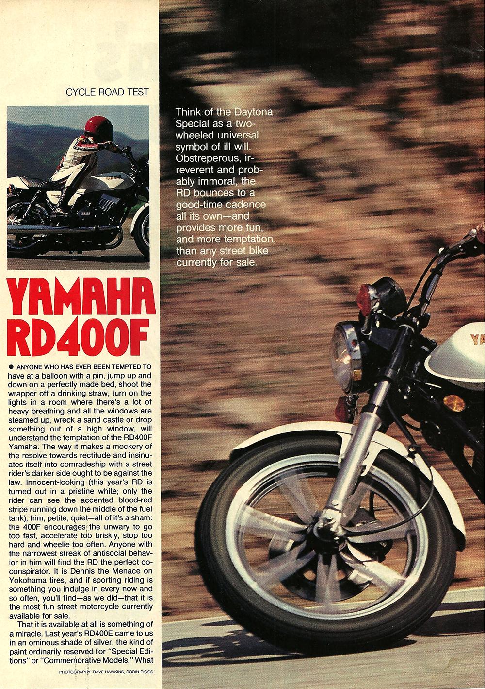 1979 Yamaha RD400F road test 01.jpg