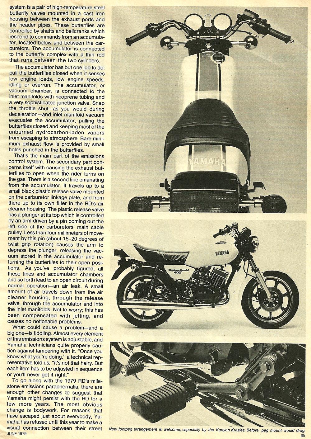 1979 Yamaha RD400F road test 04.jpg