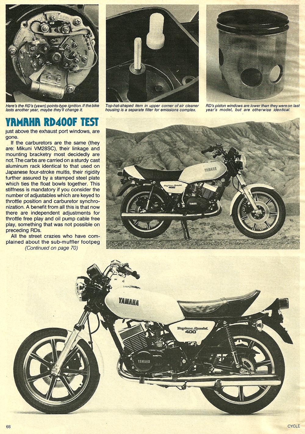 1979 Yamaha RD400F road test 07.jpg