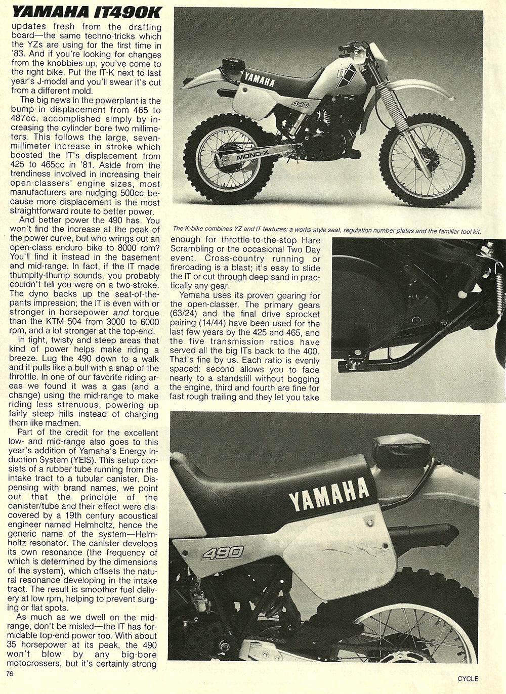 1983 Yamaha IT490K road test 2.jpg