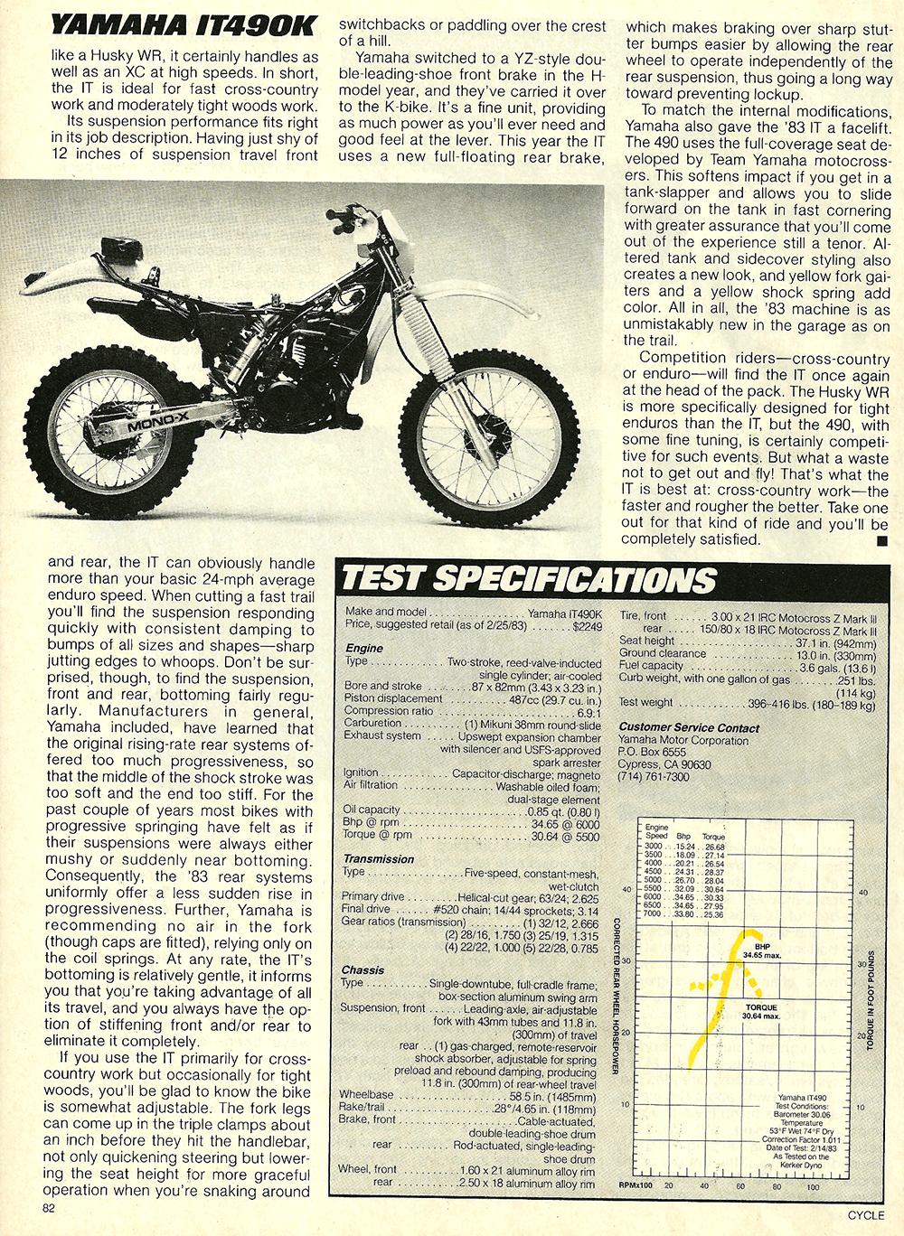 1983 Yamaha IT490K road test 6.jpg