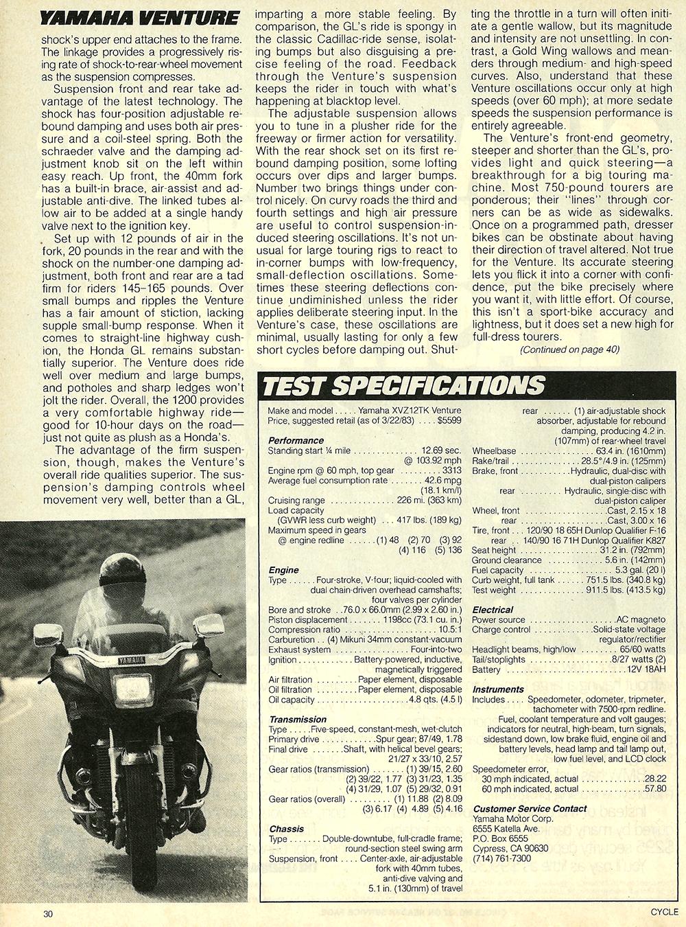 1983 Yamaha XVZ12TK Venture road test 08.jpg