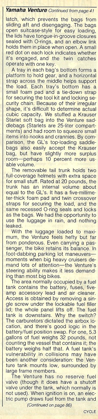 1983 Yamaha XVZ12TK Venture road test 11.jpg