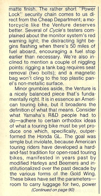 1983 Yamaha XVZ12TK Venture road test 13.jpg