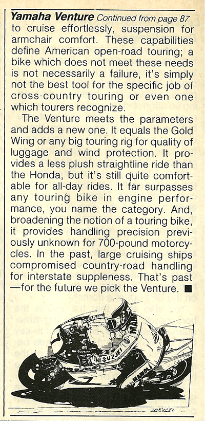 1983 Yamaha XVZ12TK Venture road test 14.jpg