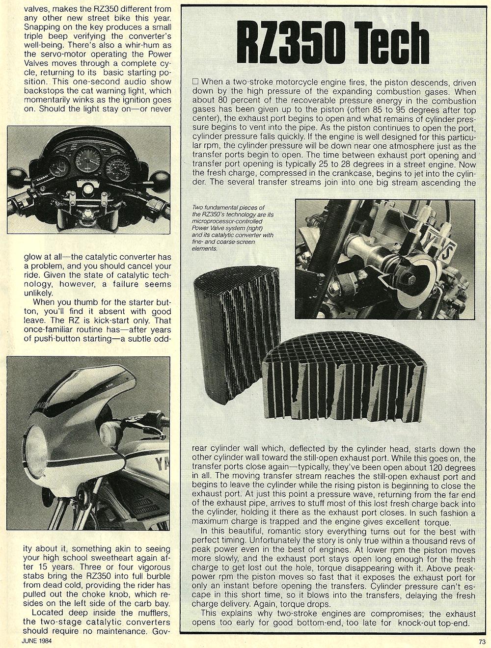 1984 Yamaha RZ350L road test 04.jpg