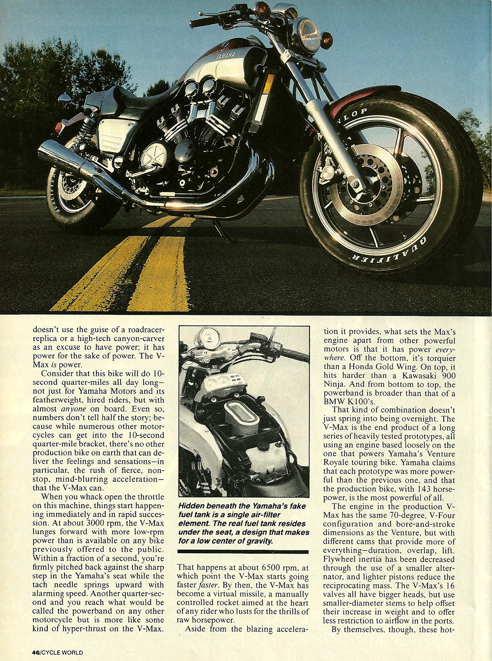 1985 Yamama Vmax 1200 road test 03.jpg