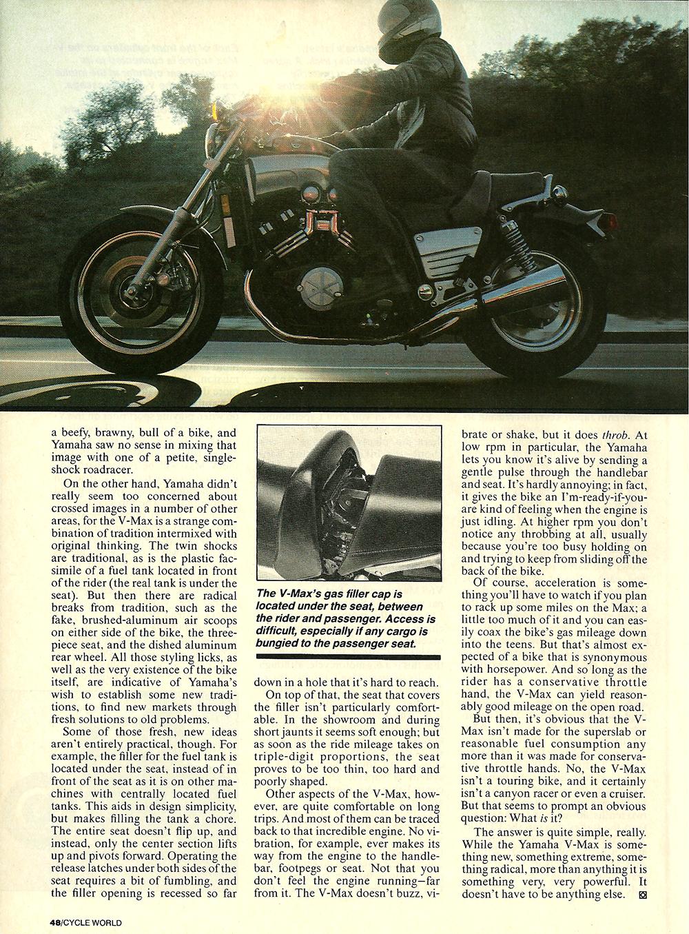 1985 Yamama Vmax 1200 road test 05.jpg