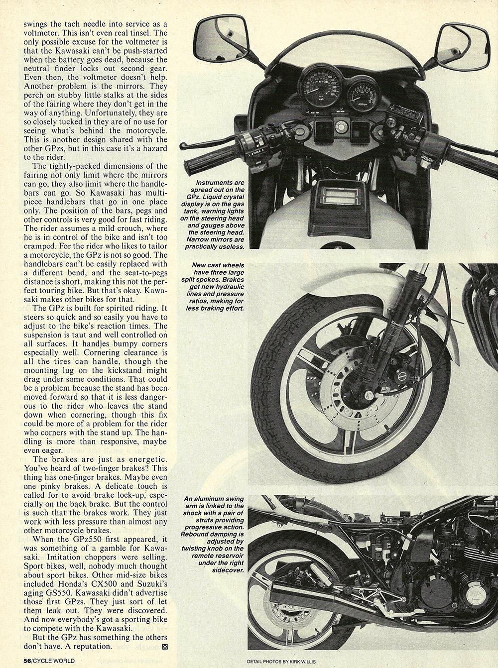 1984 Kawasaki GPz550 road test 05.jpg