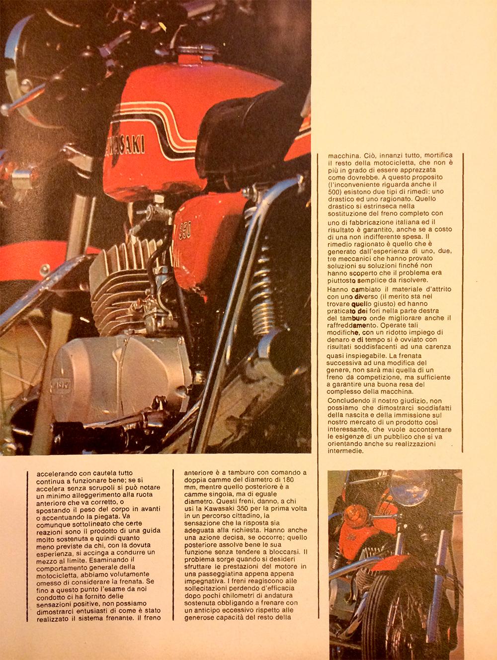 1971 Kawasaki 350 S2 Italy road test 11.jpg