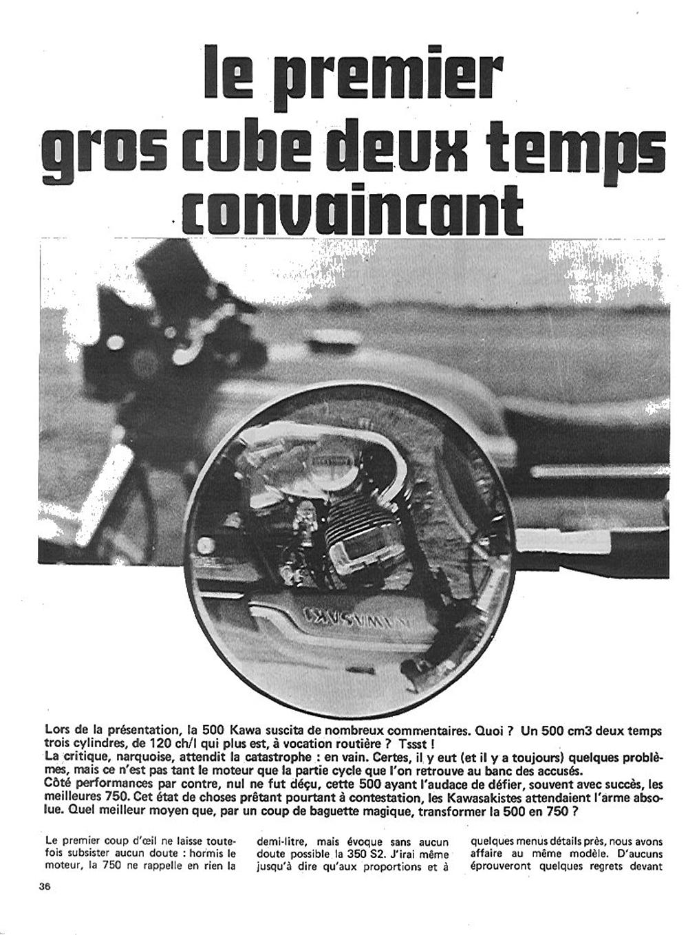 1972 Kawasaki H2 750 road test france 01.jpg