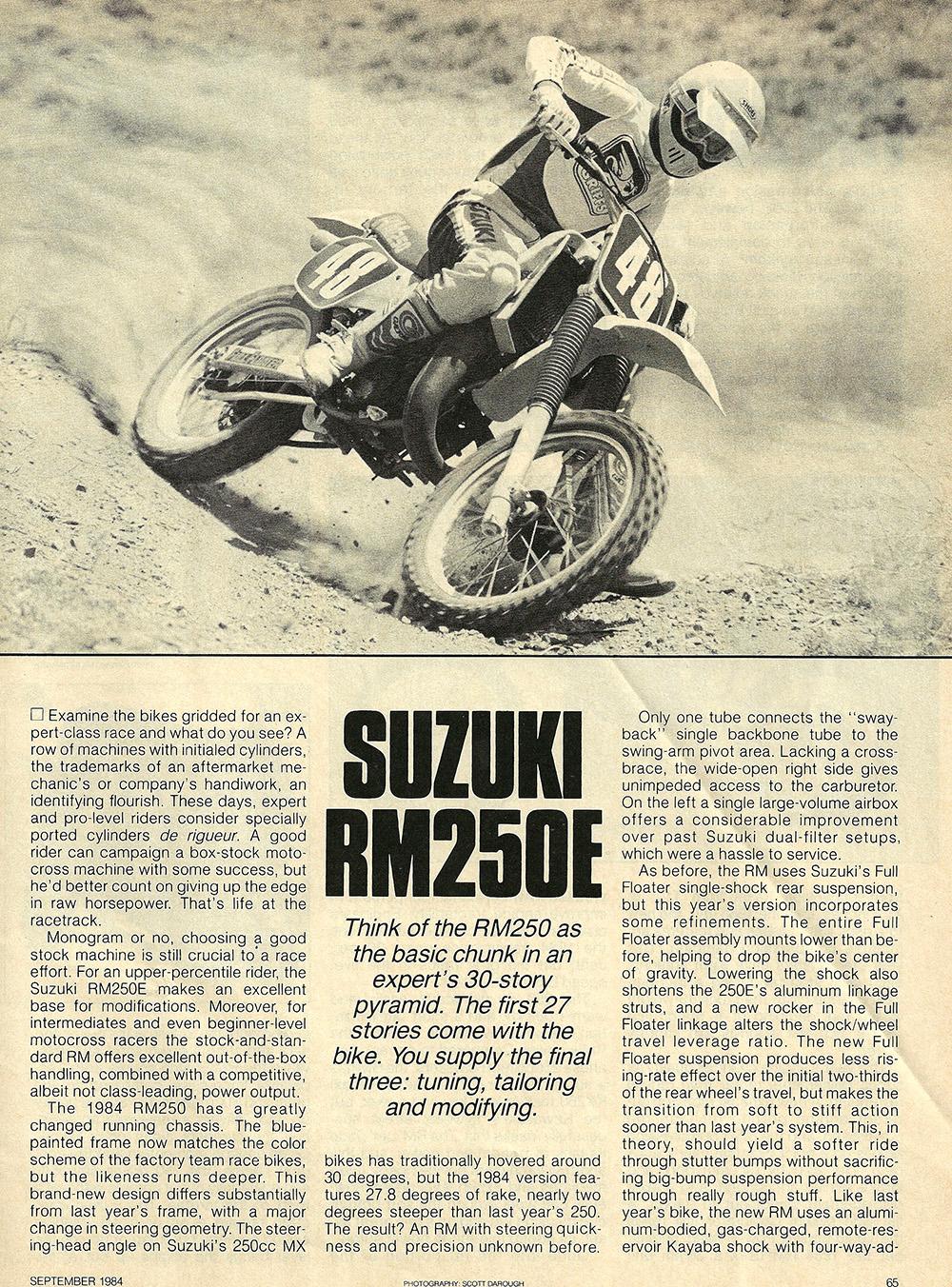 1984 Suzuki RM250 E road test 01.jpg