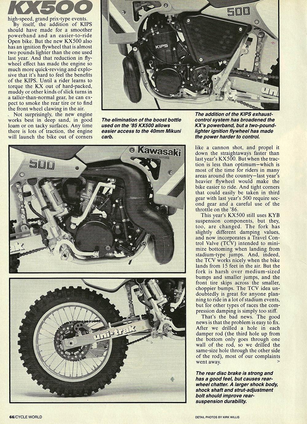 1986 Kawasaki KX500 road test 03.jpg