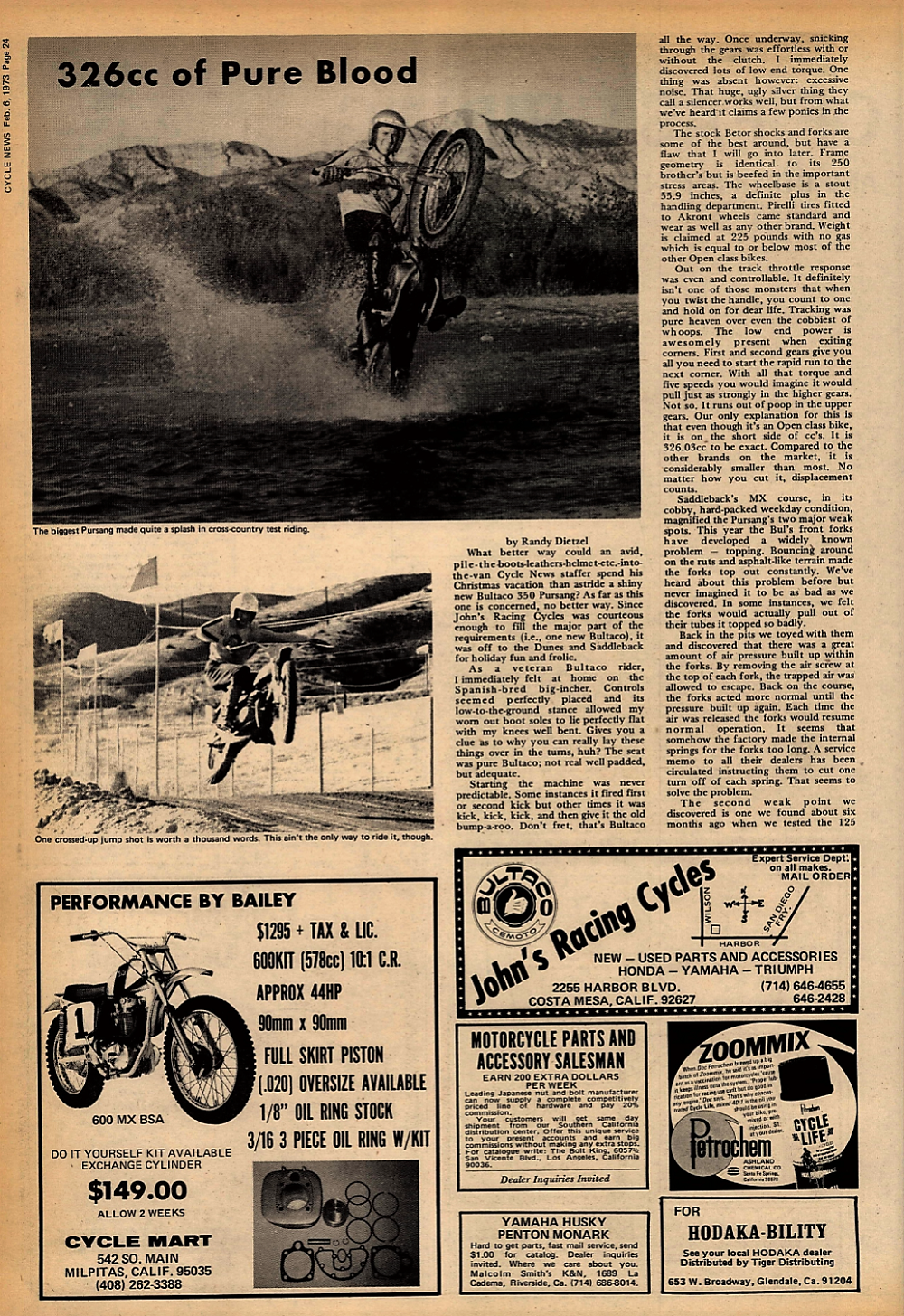 1973 Bultaco Pursang road test. 1.jpg