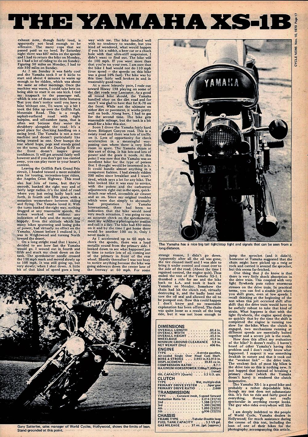 1970 Yamaha XS-1B road test. 2.jpg