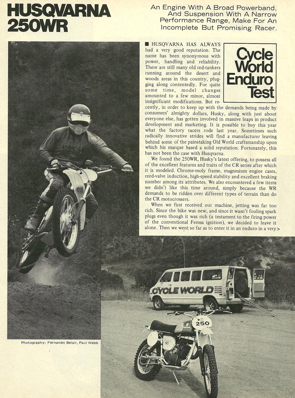 1976 Husqvarna 250WR road test 01.jpg