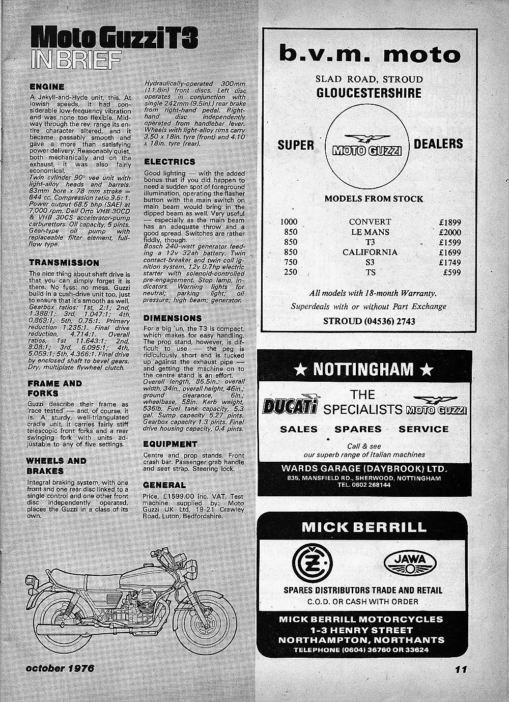 1976 Moto Guzzi T3 850 road test.4.jpg