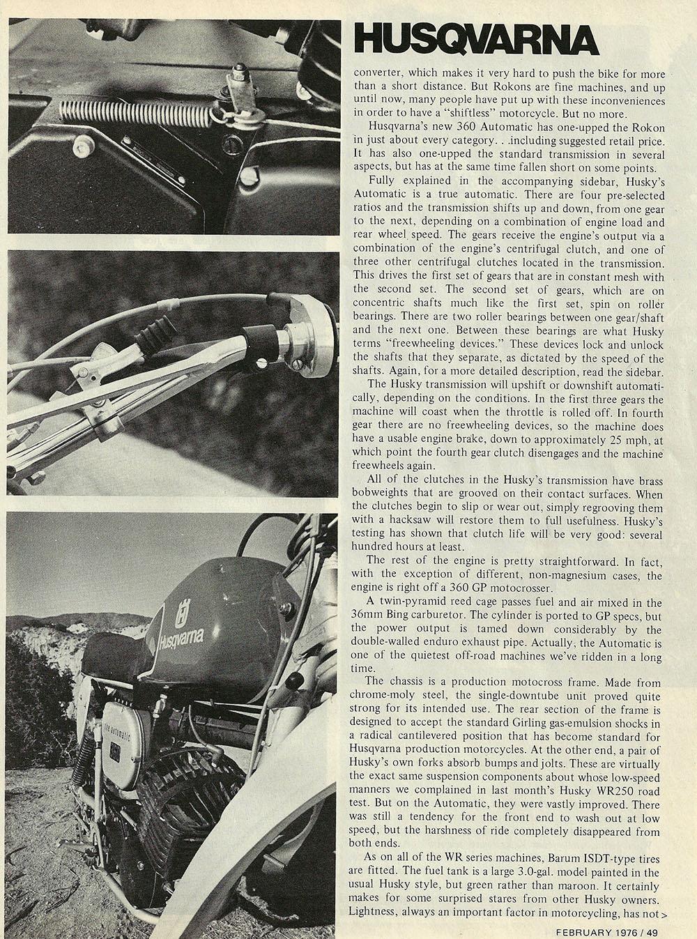 1976 Husqvarna 360 Auto road test 04.jpg