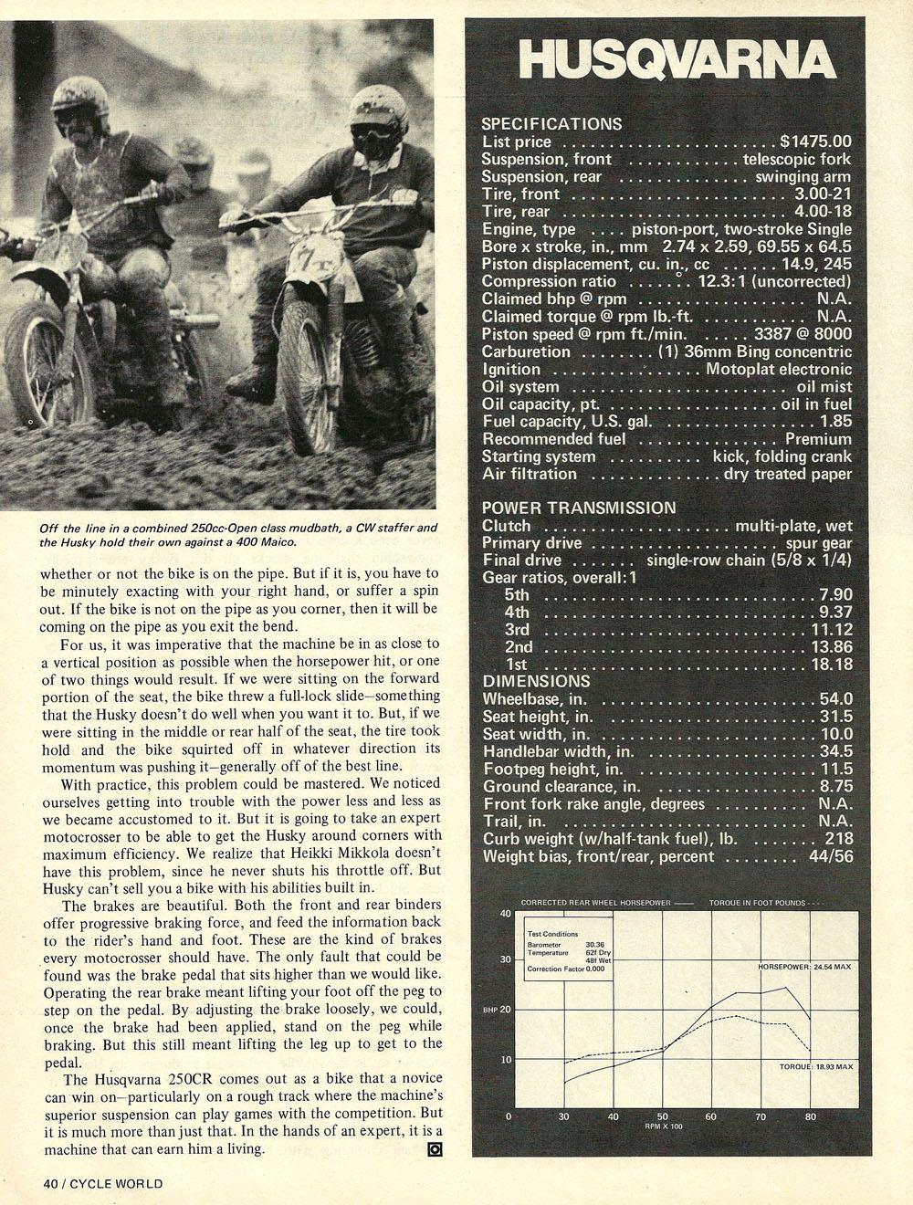 1974 Husqvarna 250 CR road test 05.jpg